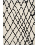 Safavieh Belize Shag Sgb484b Ivory / Charcoal Area Rug