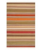 Safavieh Striped Kilim STK317A Green Area Rug