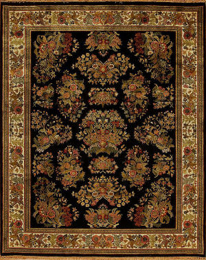 Samad British Raj 2000 York Black - Ivory Area Rug