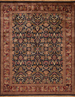 Samad British Raj 2000 Regal Navy - Red Area Rug