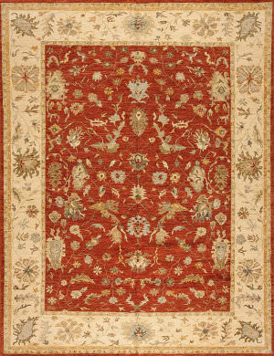 Samad Essence Tiger Lilly Brick - Cream Area Rug
