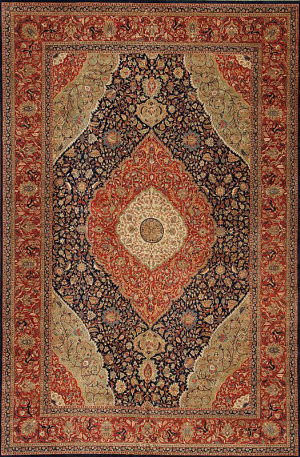 Samad Empire Vanderbilt Navy - Red Area Rug