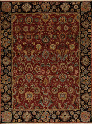 Samad Sovereign Nikolai Red - Black Area Rug
