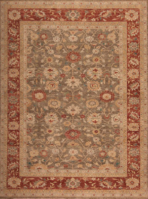 Samad International S-Ia-4 Quartz - Brick Area Rug