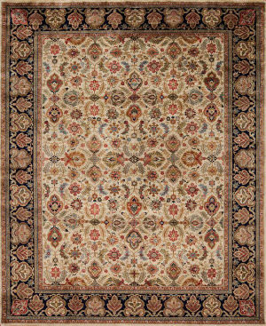 Samad British Raj 2000 Essex Ivory - Navy Area Rug