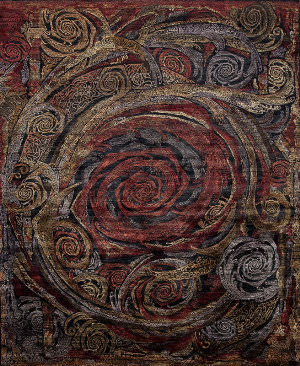 Samad Art Tec Rose Black Area Rug
