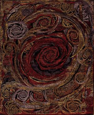 Samad Art Tec Rose Black Area Rug