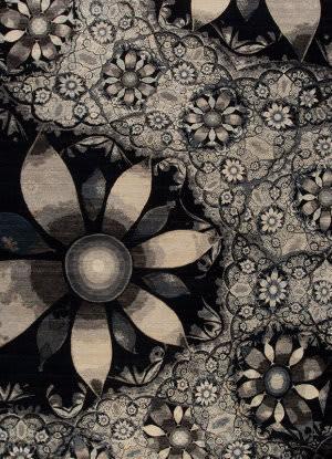 Samad Art Tec Bloom Black Area Rug