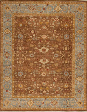 Samad International S-520 Walnut - Blue Area Rug