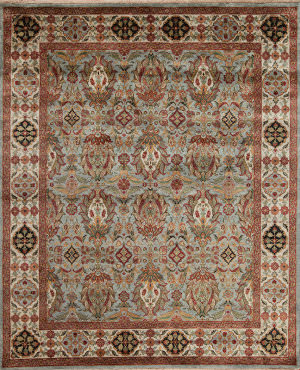 Samad Silver Screen Chevalier Light Blue - Bone Area Rug