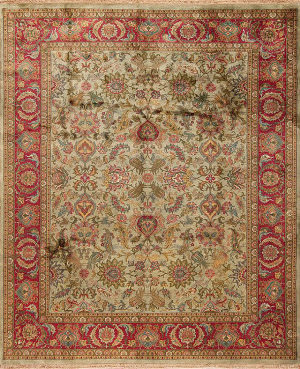 Samad British Raj 2000 Stratford Sage - Red Area Rug