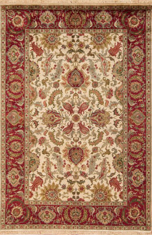 Samad British Raj 2000 Stratford Ivory - Red Area Rug