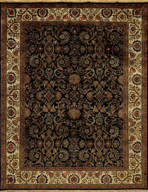 Samad British Raj 2000 Devon Black - Ivory Area Rug