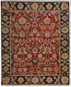 Samad Sovereign Nikolai Red/Black Area Rug