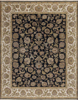 Samad Passions Soul Charcoal - Ivory Area Rug
