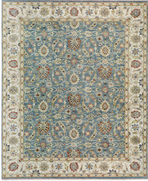 Samad Sovereign Tara Wedgewood/Ivory Area Rug