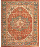 Samad International S-555 Red - Teal Area Rug