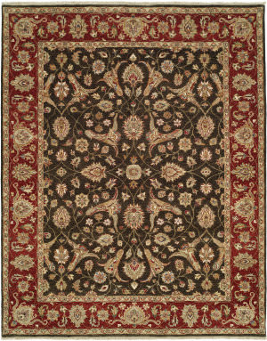 Shalom Brothers Royal Zeigler Rzm-Sl6 Black/Red Area Rug