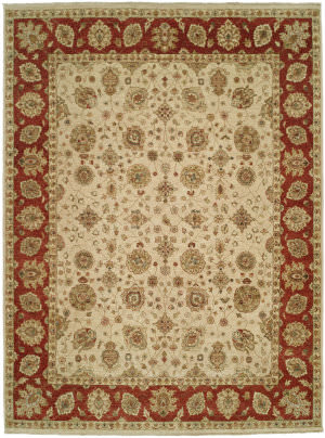 Shalom Brothers Royal Zeigler Rzm-Sl11 Beige/Red Area Rug