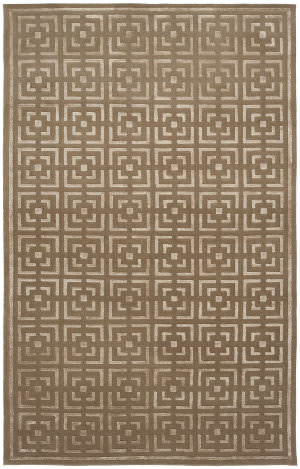 Shalom Brothers Broadway B-3 Taupe - Beige Silk Area Rug