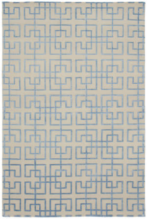 Shalom Brothers Broadway B-6 Ivory-Blue Silk Area Rug