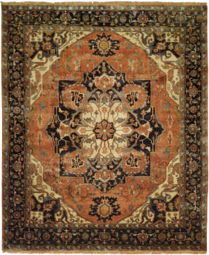 Shalom Brothers Jules Serapi Js-554 Antique Wash Finish Area Rug