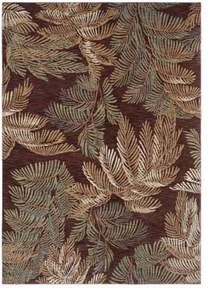 Shaw Tommy Bahama Home-Nylon Archival Fern Brown 44710 Area Rug
