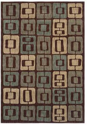 Shaw Angela Adams Munjoy Dark Brown 08710 Area Rug