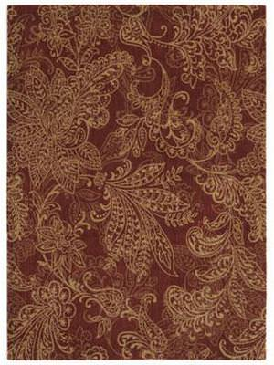 Shaw Pacifica Santa Barbara Firebrick Red 05800 Area Rug