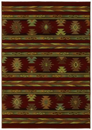 Shaw Phillip Crowe Timber Creek Pueblo Scarlet-11800 Area Rug