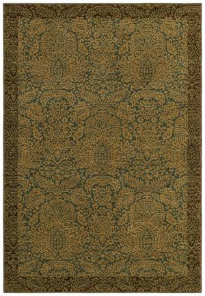 Shaw Tommy Bahama Home-Nylon Seaspray Damask Ocean 23600 Area Rug