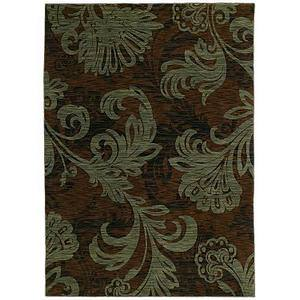 Shaw Tommy Bahama Home-Nylon Bahama Bloom Dark Brown 41710 Area Rug