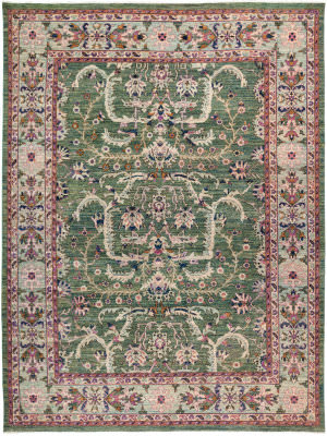 Solo Rugs Eclectic M1877-391  Area Rug