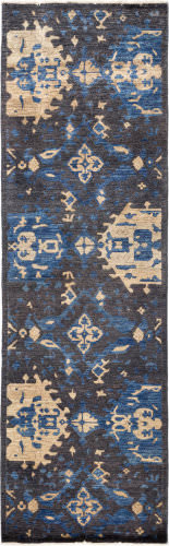 Solo Rugs Eclectic  3' x 9'10'' Runner Rug