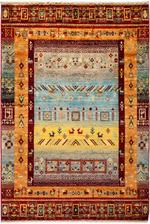 Solo Rugs Tribal M1898-396  Area Rug