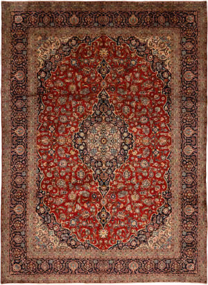 Solo Rugs Kashan M6085-22051  Area Rug