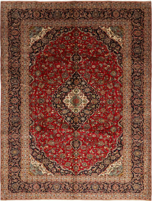 Solo Rugs Kashan M6085-22059  Area Rug