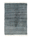 Solo Rugs Grit and Ground Boxy Shag Blue - Gray Area Rug