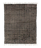 Solo Rugs Grit and Ground Boxy Shag Pink - Gray Area Rug