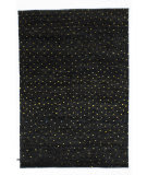 Solo Rugs Grit and Ground Confetti Night Black Area Rug