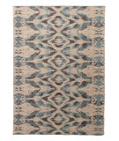 Solo Rugs Grit and Ground Cosmic Glow Flatweave Gray Area Rug