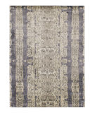Solo Rugs Grit and Ground Electro Fusion Silk Silver Area Rug