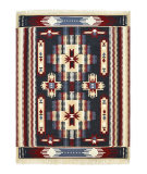 Luxor Lane Woven Eve-S3133 Navy - Red Area Rug