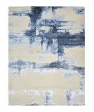 Luxor Lane Knotted Baj-S3199 Ivory - Blue Area Rug