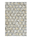Luxor Lane Knotted Ink-S3282 Silver Area Rug