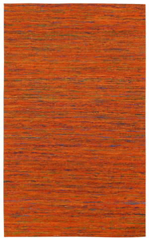St. Croix Sari Silk Cst03 Orange Area Rug
