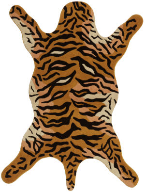 St. Croix Safari Ct91 Orange Area Rug