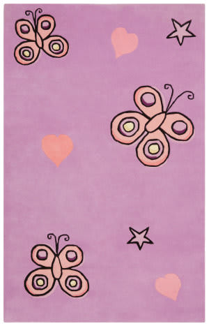 St. Croix Playful Kt05 Purple Area Rug