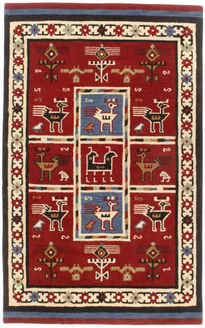 St. Croix Traditions Pt64 Red Area Rug