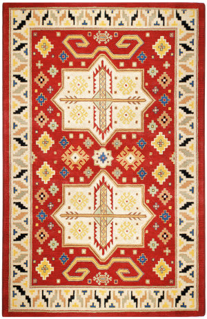 St. Croix Traditions Pt68 Red Area Rug